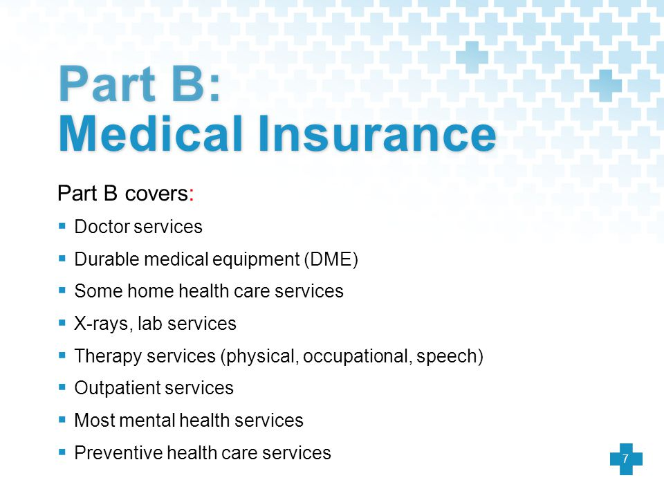 Part B: Medical Insurance