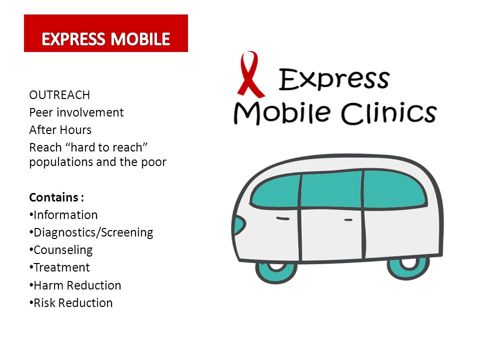 EXPRESS MOBILE OUTREACH Peer involvement After Hours