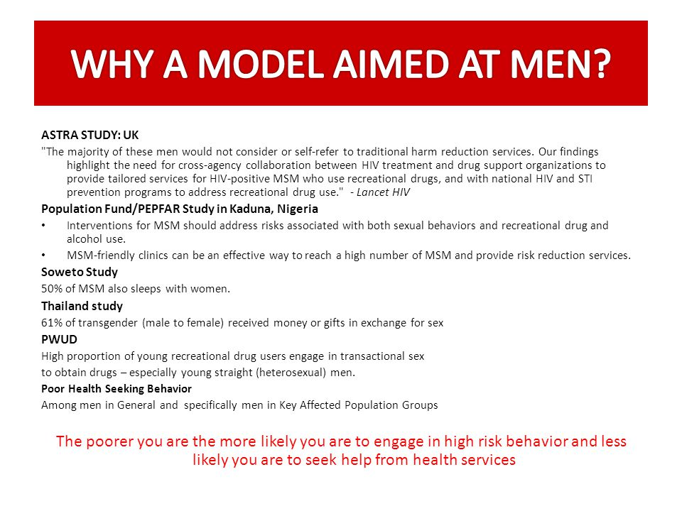 WHY A MODEL AIMED AT MEN ASTRA STUDY: UK.