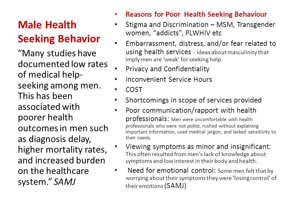 Male Health Seeking Behavior