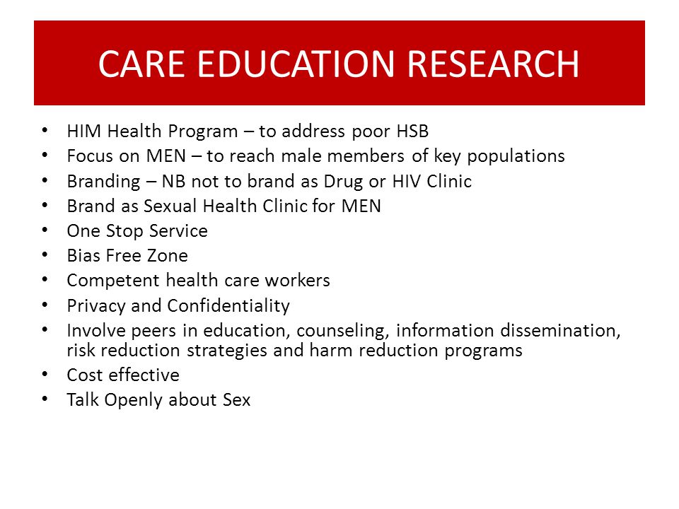 CARE EDUCATION RESEARCH