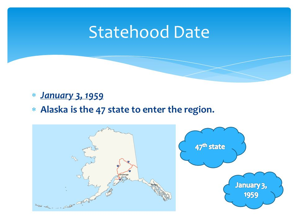 Statehood Date January 3, 1959