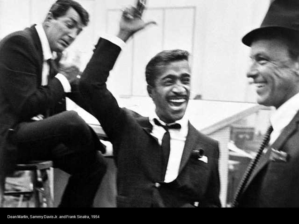Dean Martin, Sammy Davis Jr. and Frank Sinatra, 1954