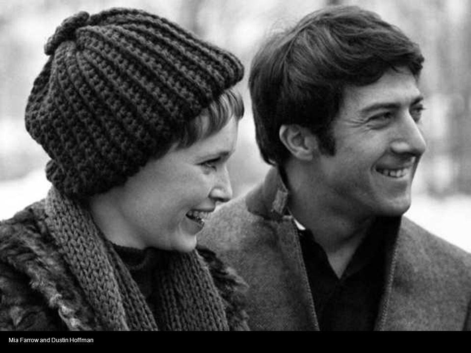 Mia Farrow and Dustin Hoffman