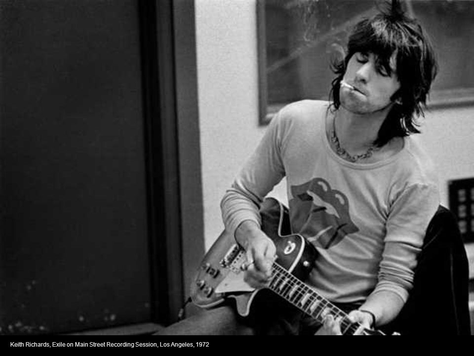 Keith Richards, Exile on Main Street Recording Session, Los Angeles, 1972