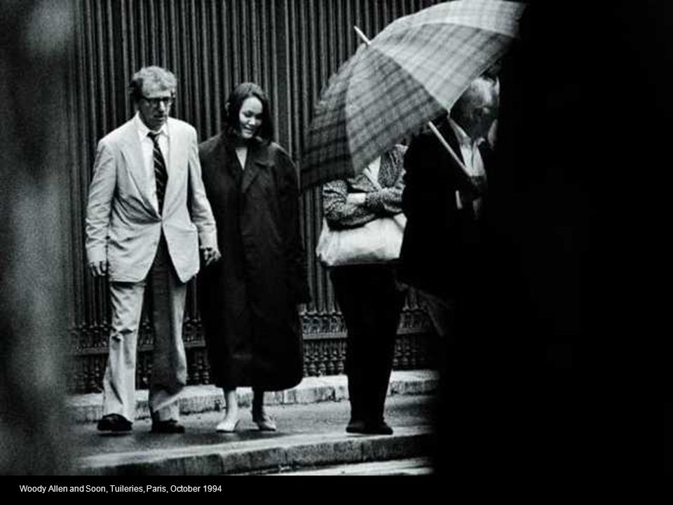 Woody Allen and Soon, Tuileries, Paris, October 1994