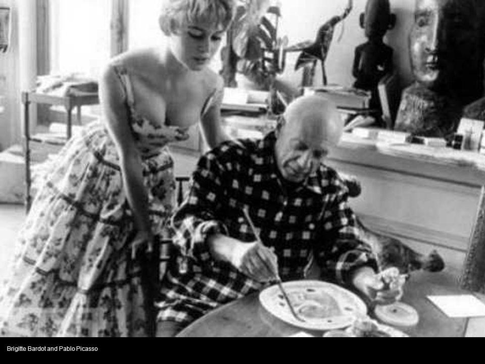 Brigitte Bardot and Pablo Picasso