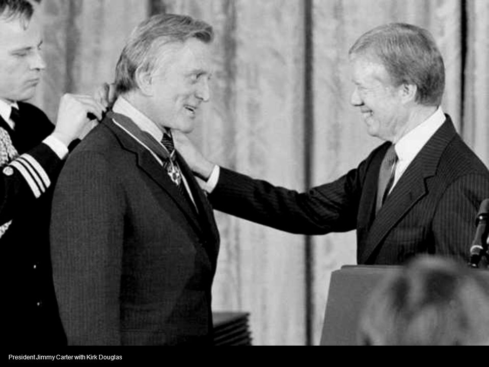 President Jimmy Carter with Kirk Douglas