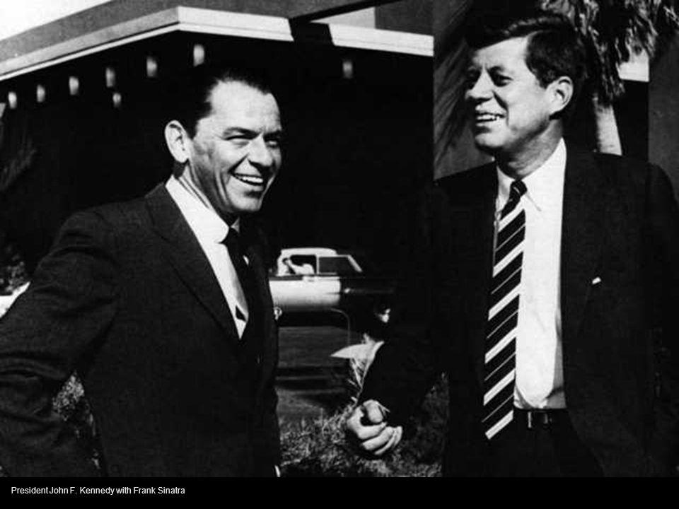 President John F. Kennedy with Frank Sinatra