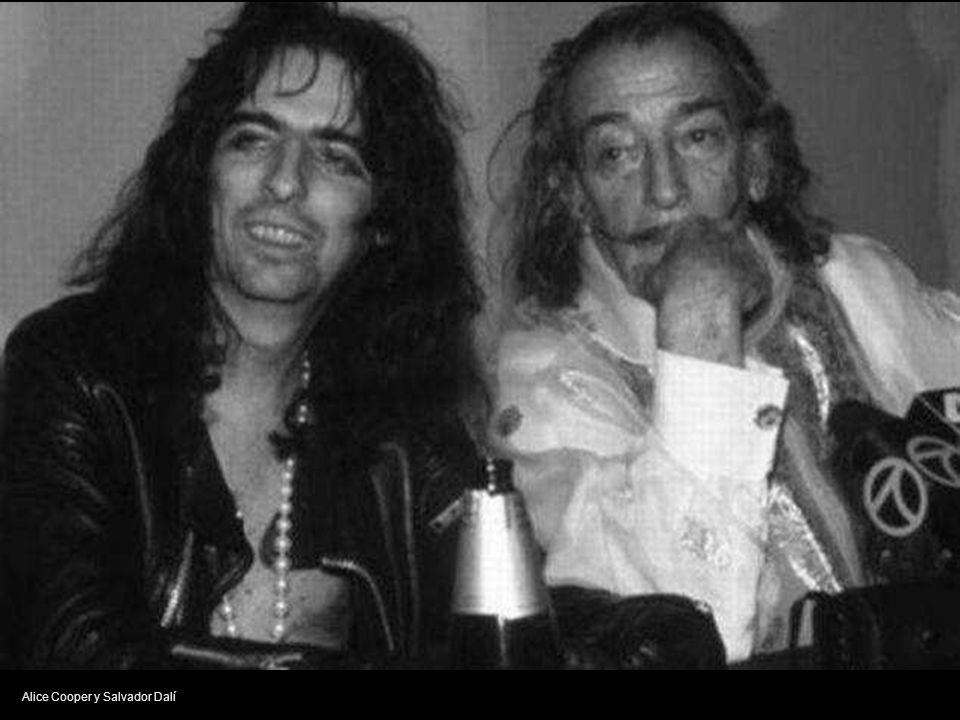 Alice Cooper y Salvador Dalí