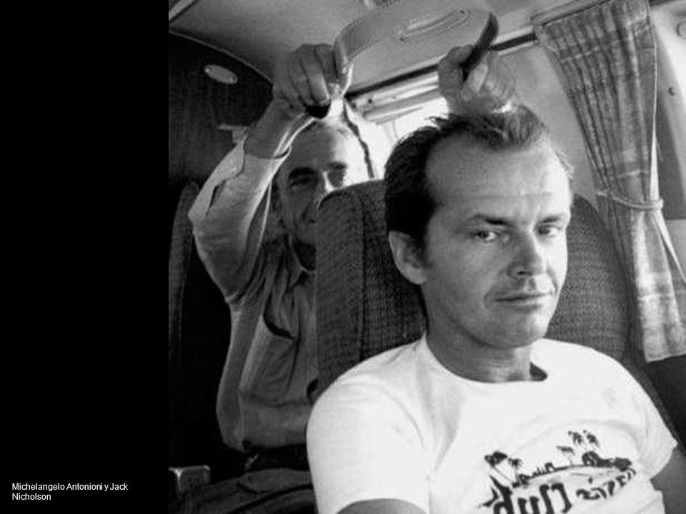 Michelangelo Antonioni y Jack Nicholson