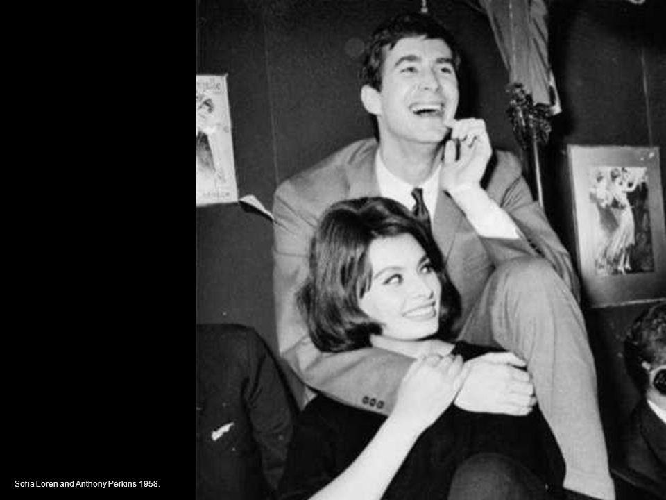 Sofia Loren and Anthony Perkins 1958.