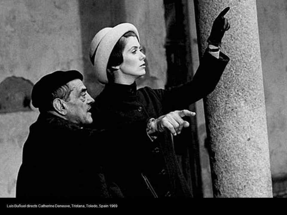 Luis Buñuel directs Catherine Deneuve, Tristana, Toledo, Spain 1969