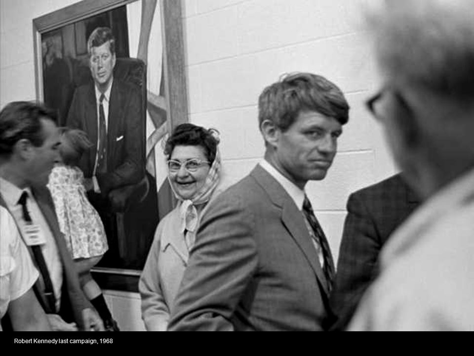 Robert Kennedy last campaign, 1968