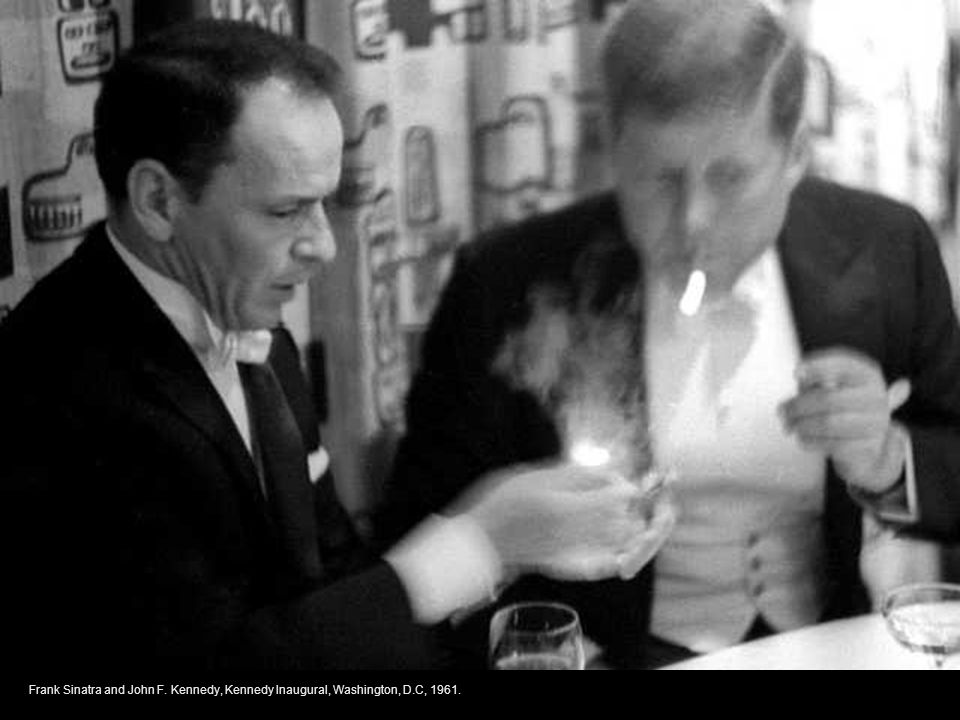 Frank Sinatra and John F. Kennedy, Kennedy Inaugural, Washington, D