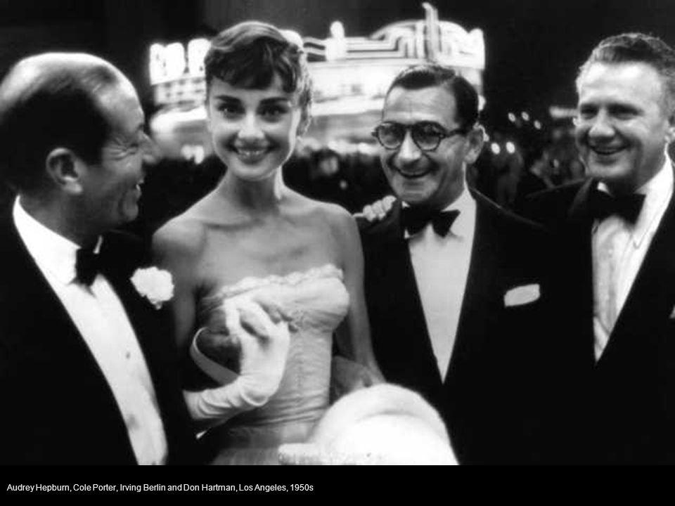 Audrey Hepburn, Cole Porter, Irving Berlin and Don Hartman, Los Angeles, 1950s