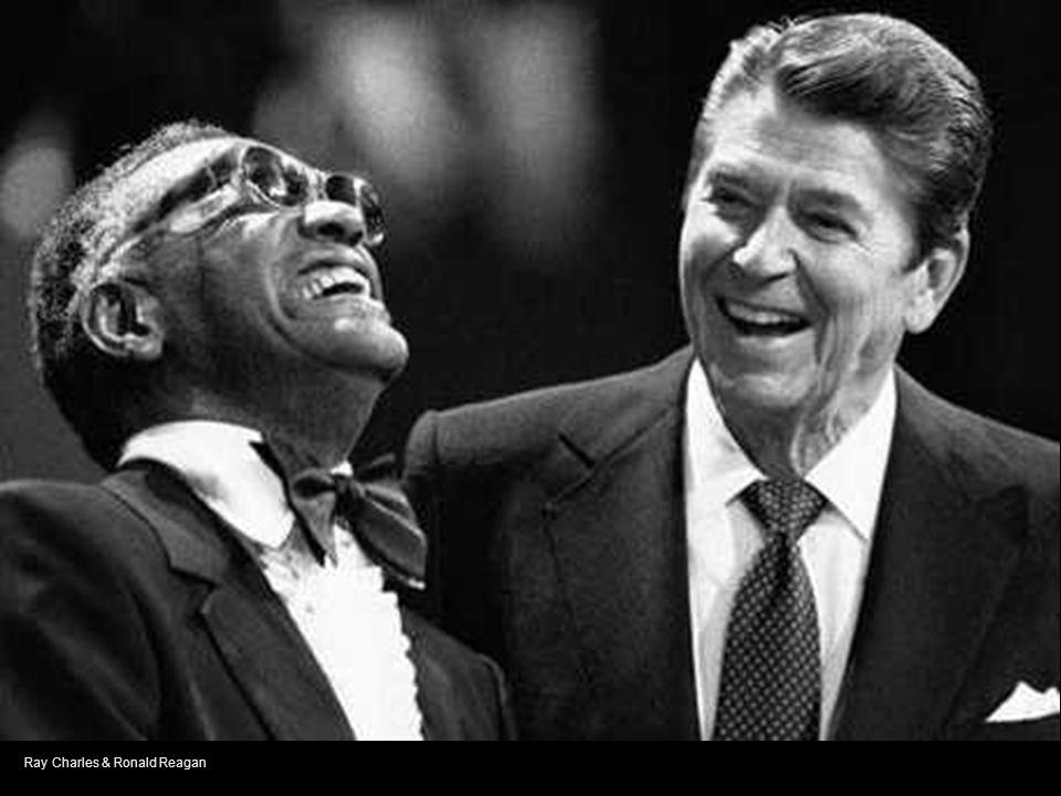 Ray Charles & Ronald Reagan