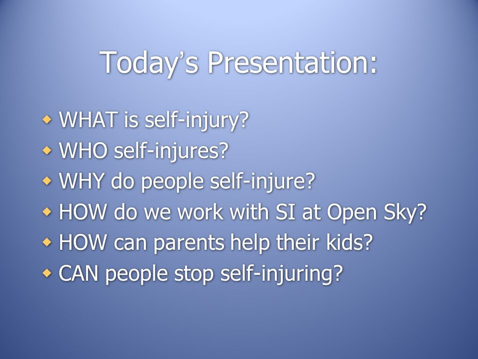 Today's Presentation: