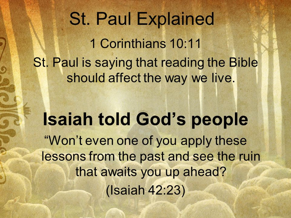 Isaiah told God's people