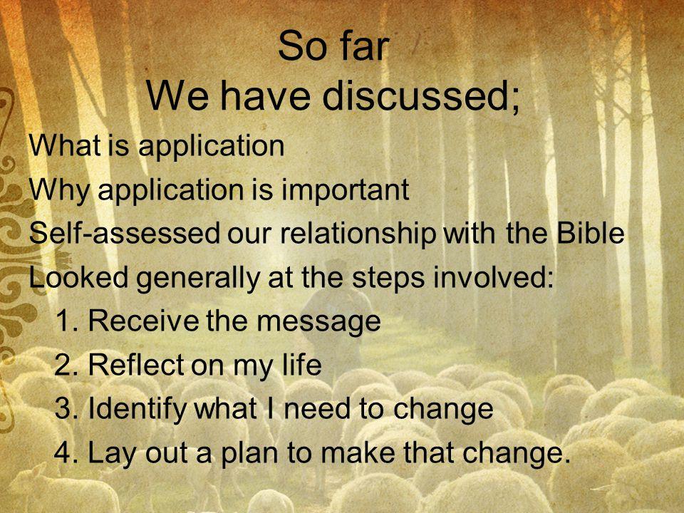So far We have discussed;