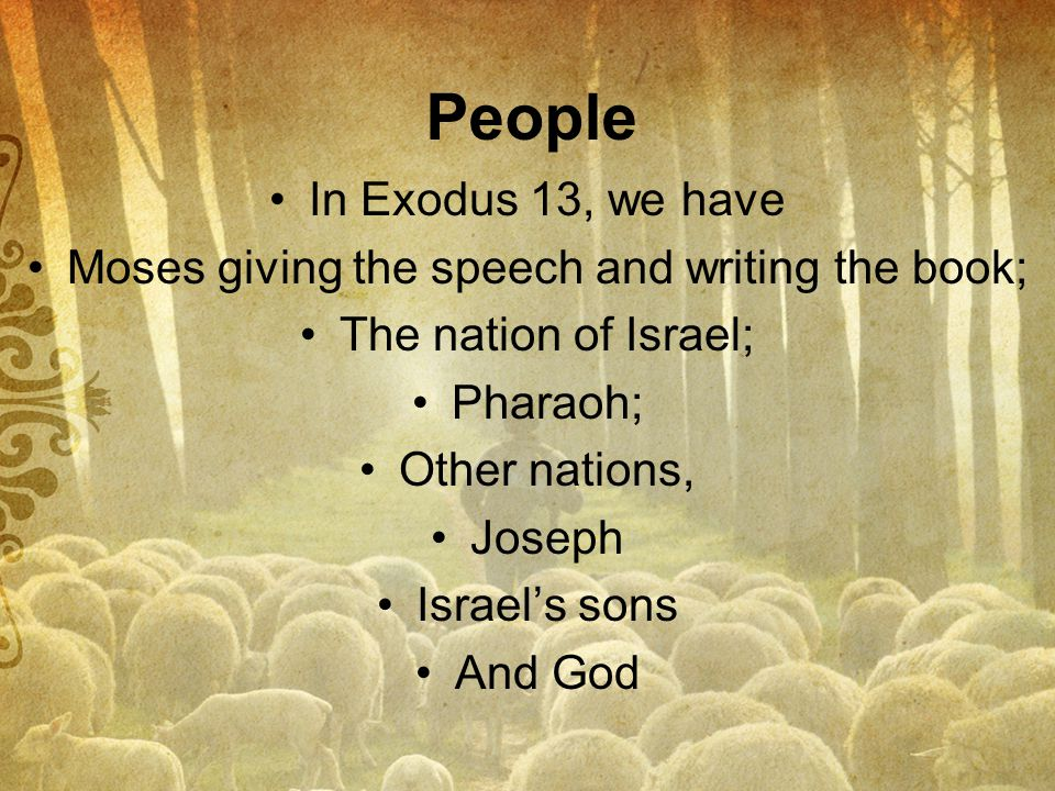 Moses giving the speech and writing the book;
