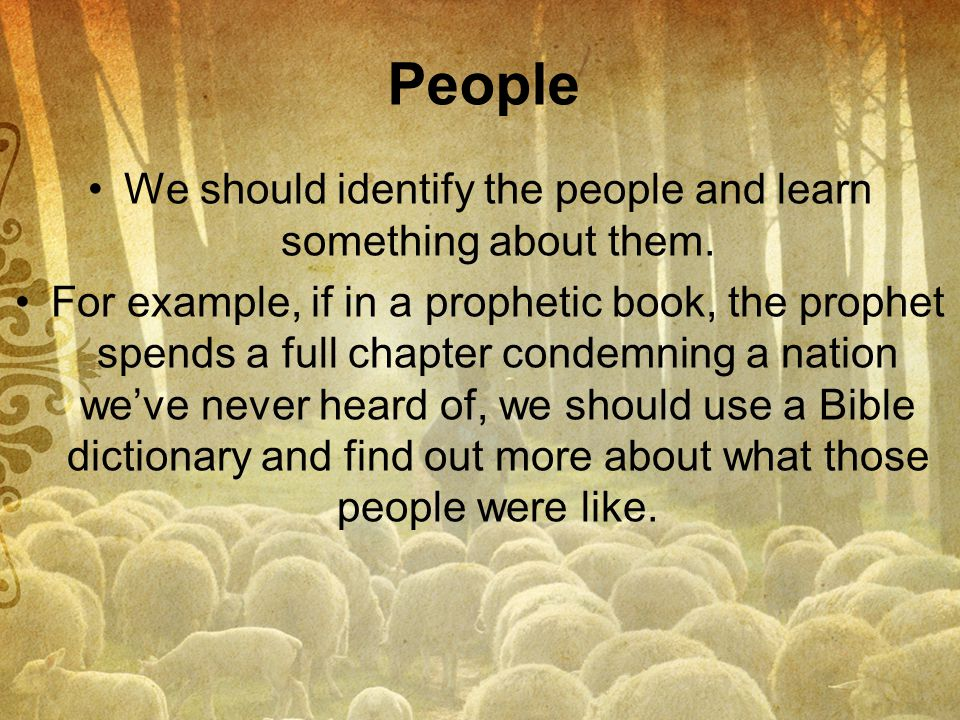 We should identify the people and learn something about them.
