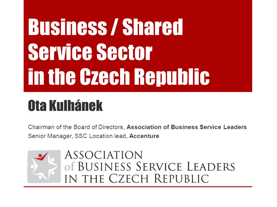 Business / Shared Service Sector in the Czech Republic