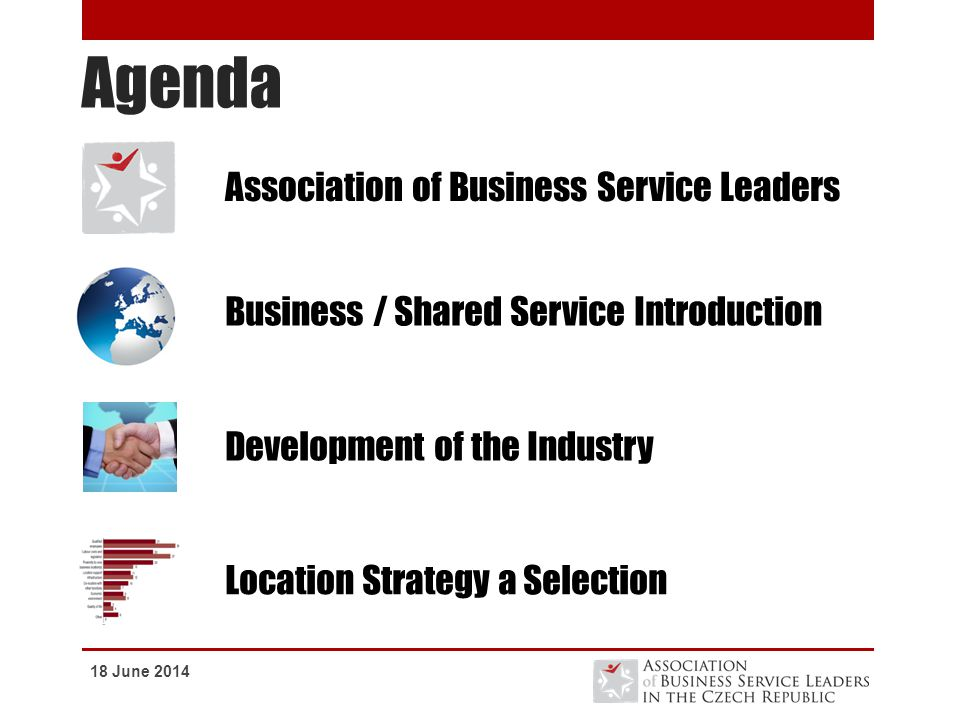 Agenda Association of Business Service Leaders