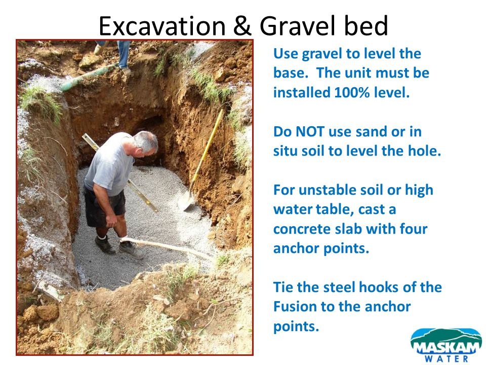 Excavation & Gravel bed