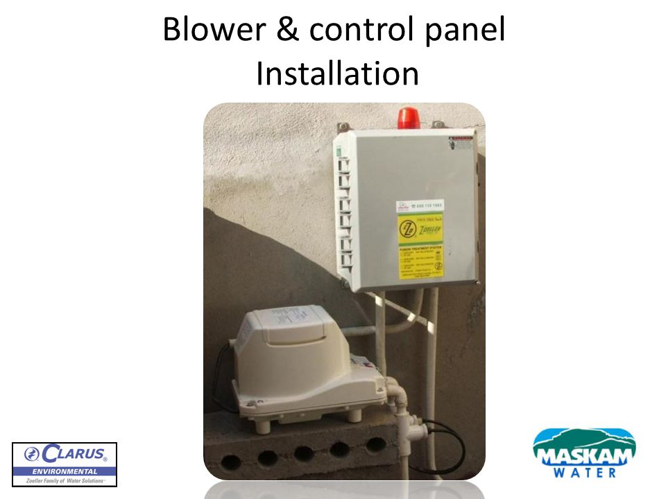 Blower & control panel Installation
