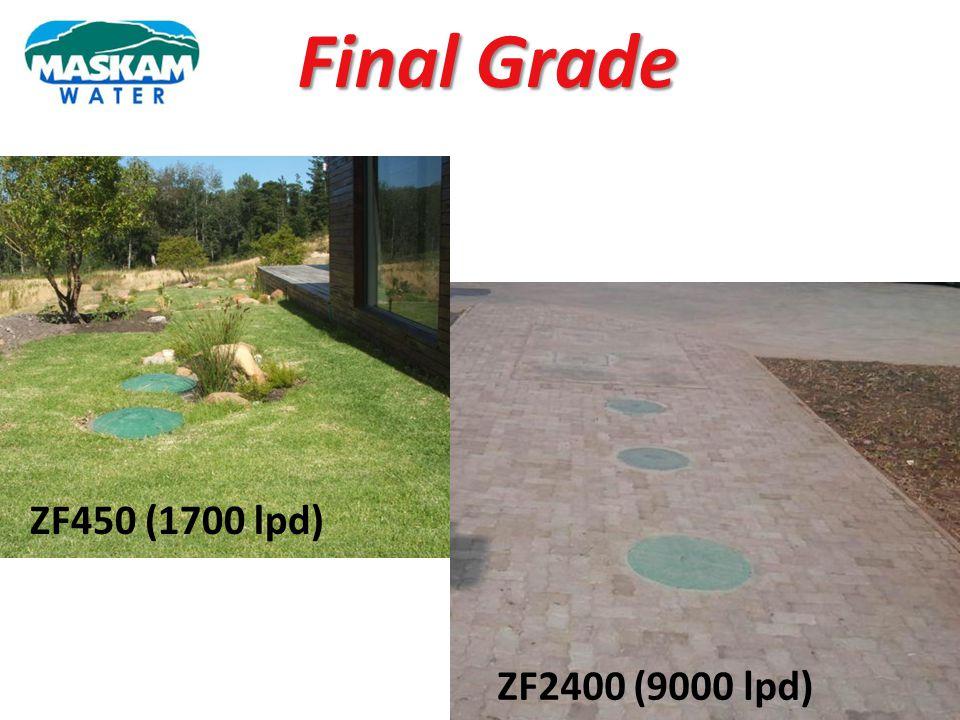 Final Grade ZF450 (1700 lpd) ZF2400 (9000 lpd)