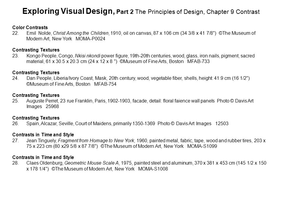 Exploring Visual Design, Part 2 The Principles of Design, Chapter 9 Contrast
