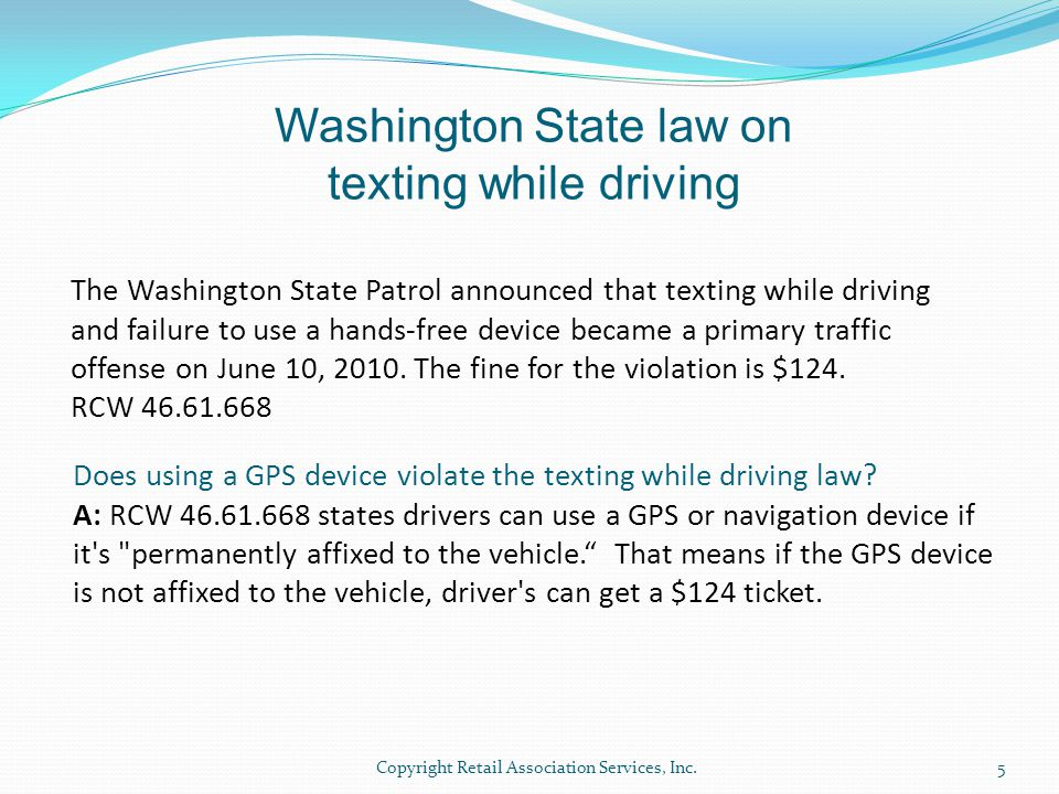 Washington State law on