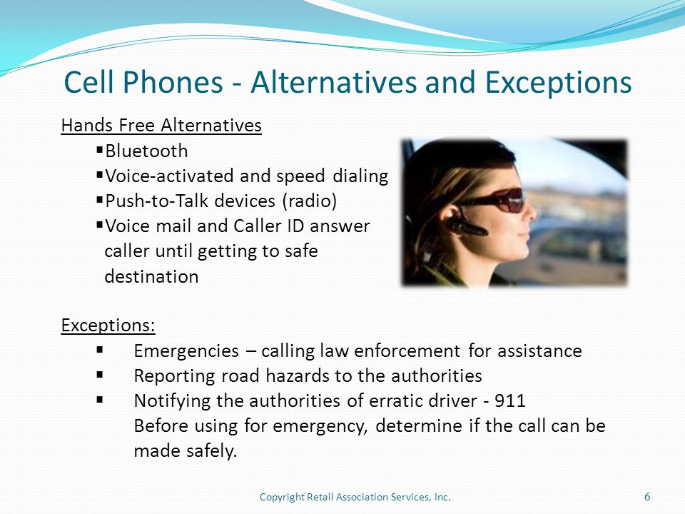 Cell Phones - Alternatives and Exceptions