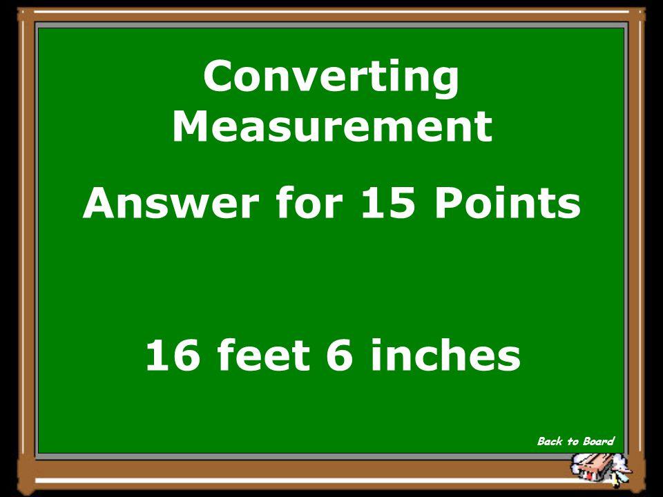 Converting Measurement
