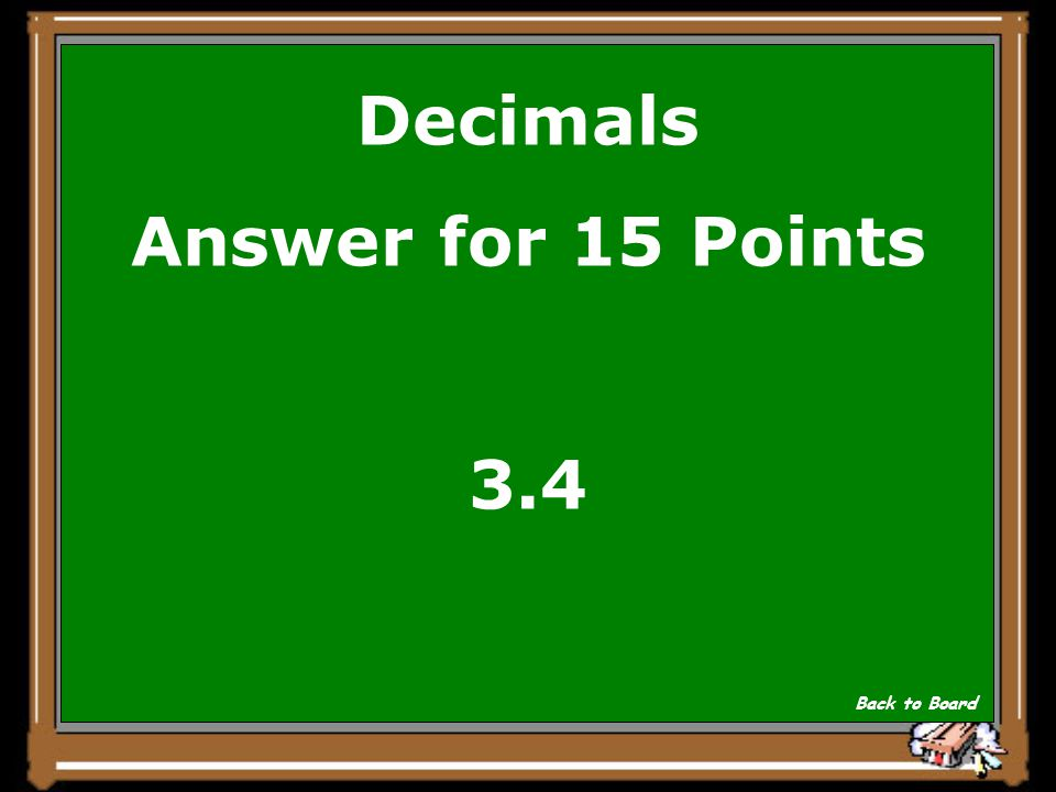 Decimals Answer for 15 Points 3.4