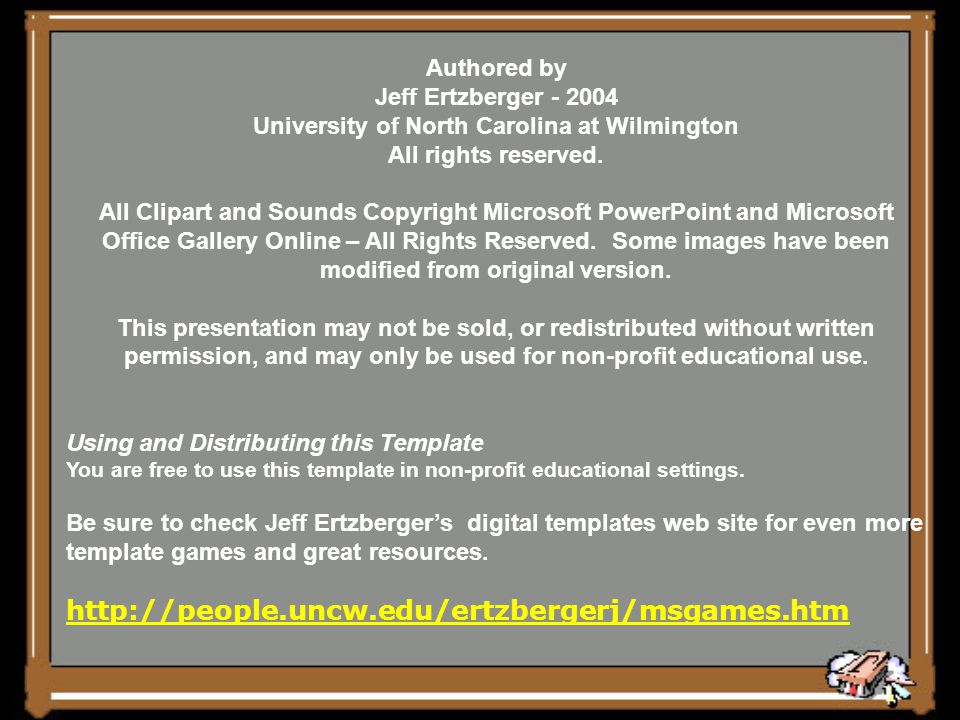 University of North Carolina at Wilmington All rights reserved.