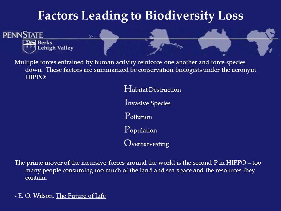 Factors Leading to Biodiversity Loss