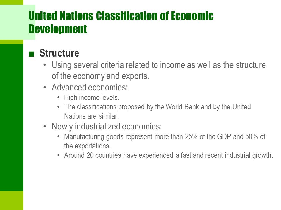 United Nations Classification of Economic Development