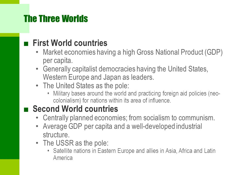 Second World countries