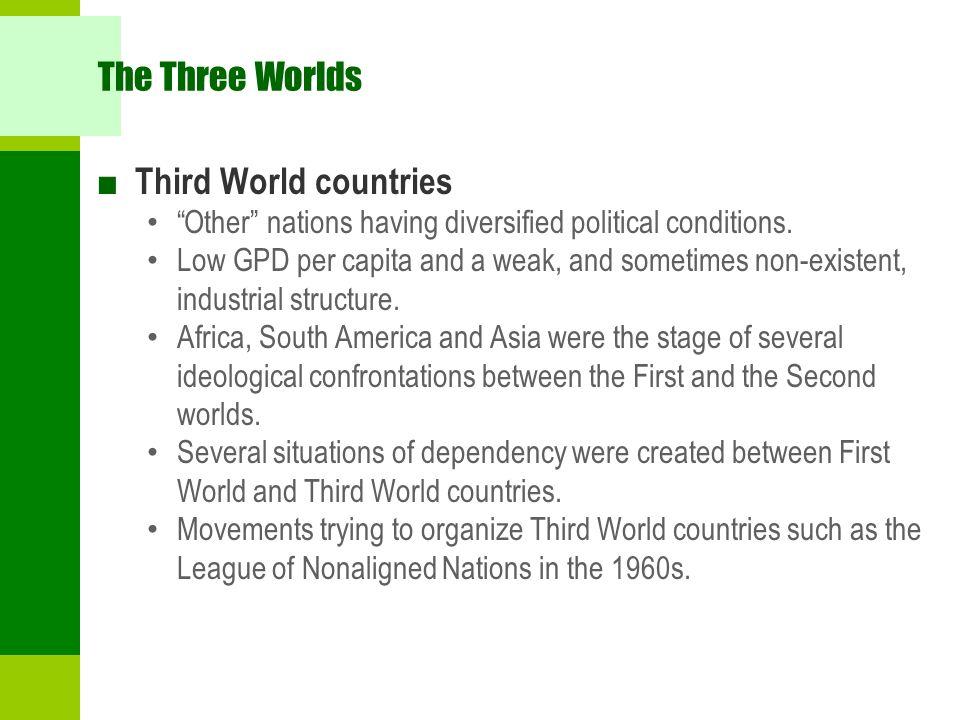The Three Worlds Third World countries