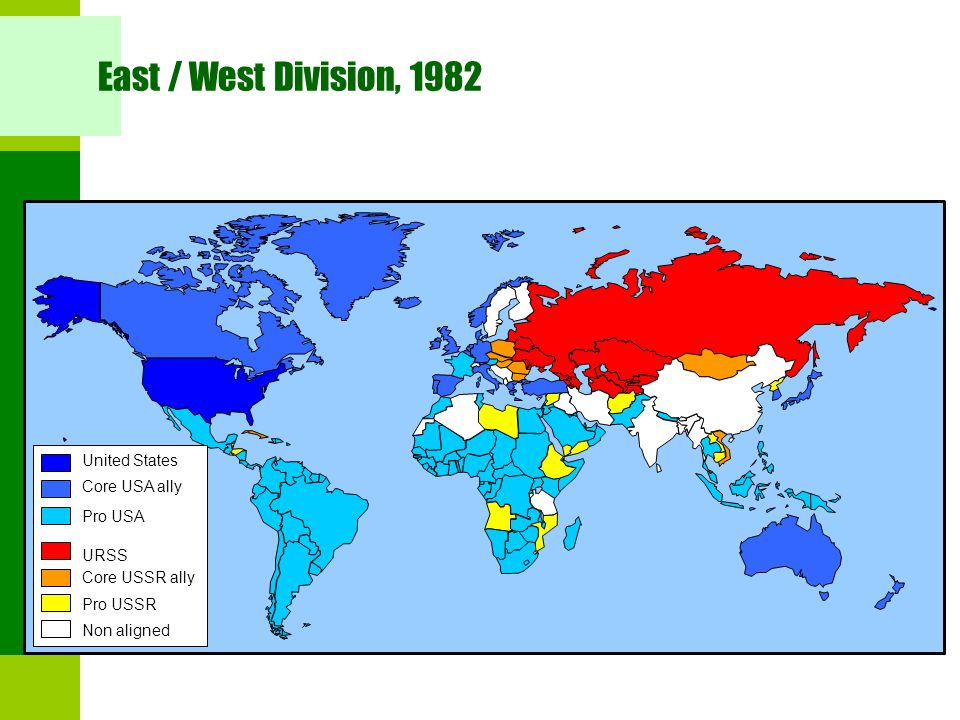 East / West Division, 1982 United States Core USA ally Pro USA URSS