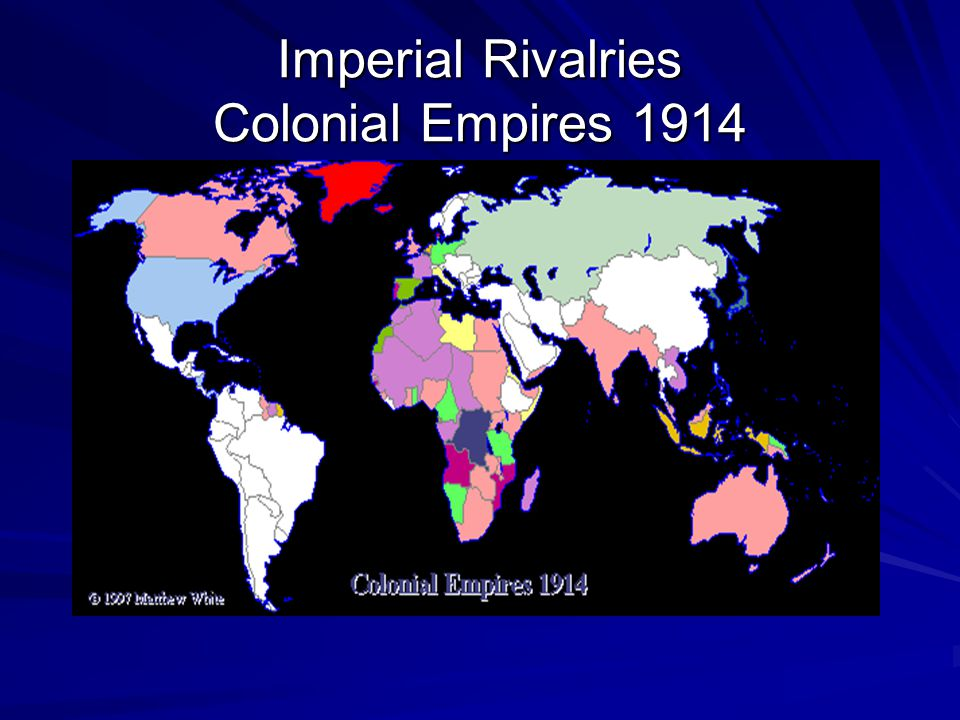 Imperial Rivalries Colonial Empires 1914