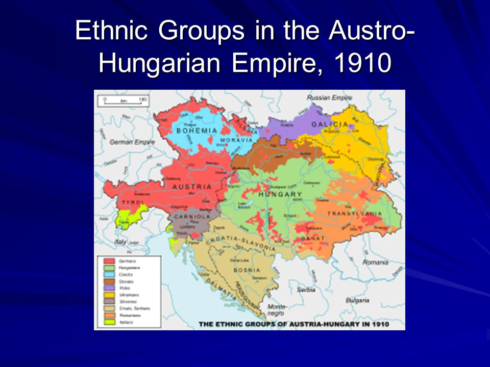 Ethnic Groups in the Austro-Hungarian Empire, 1910