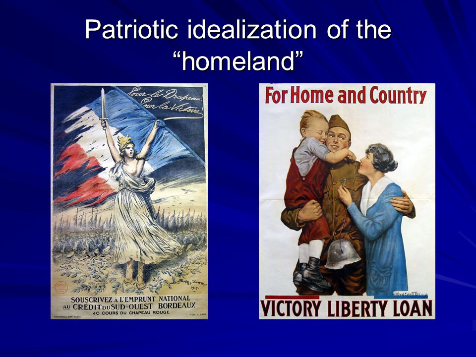 Patriotic idealization of the homeland