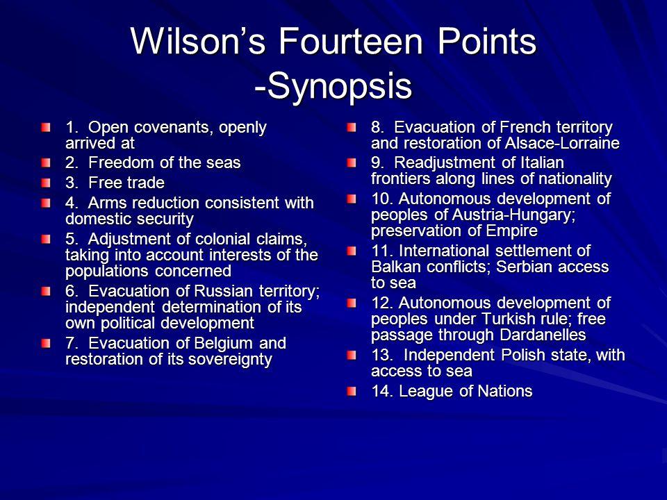 Wilson's Fourteen Points -Synopsis