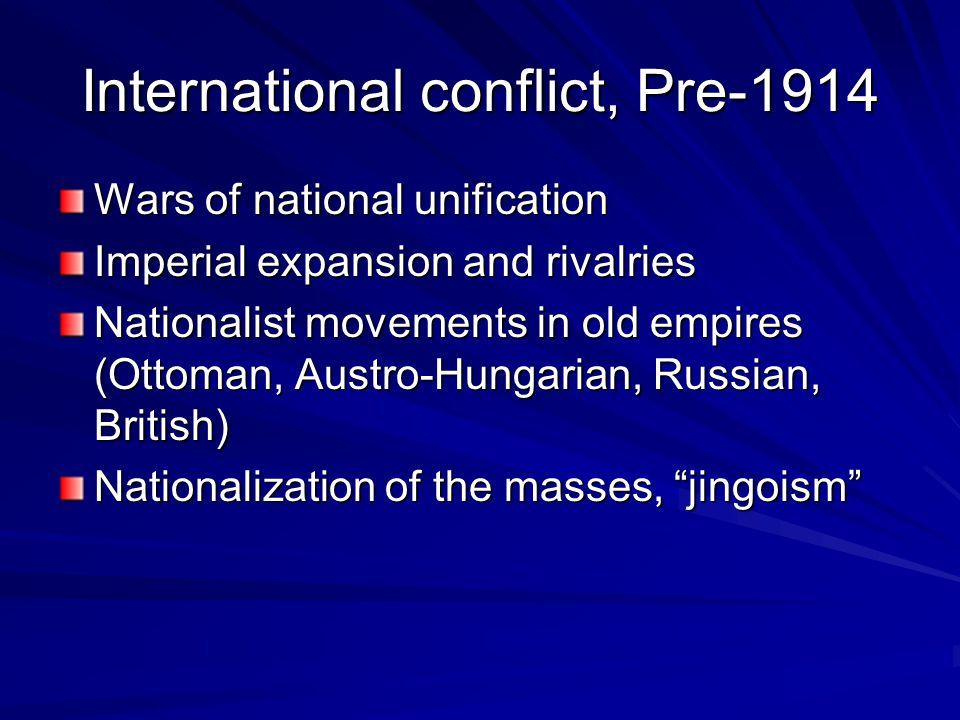 International conflict, Pre-1914