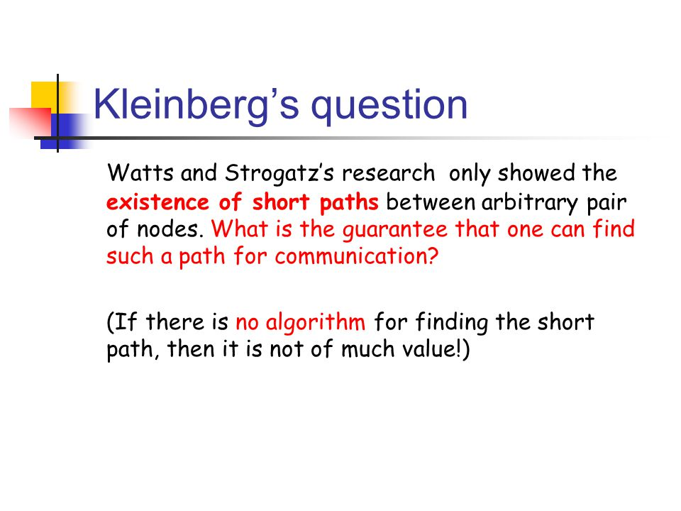 Kleinberg's question