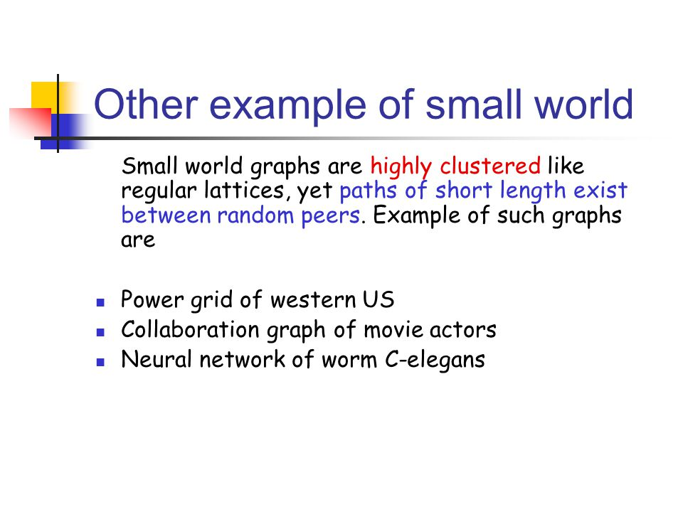 Other example of small world