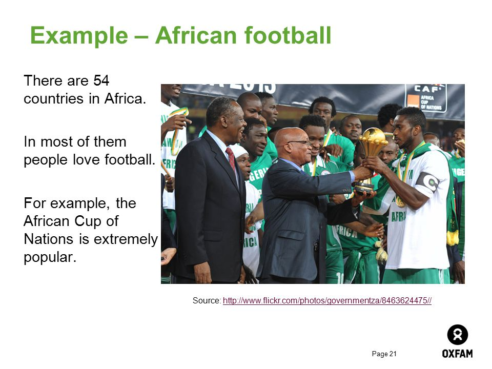 Example – African football